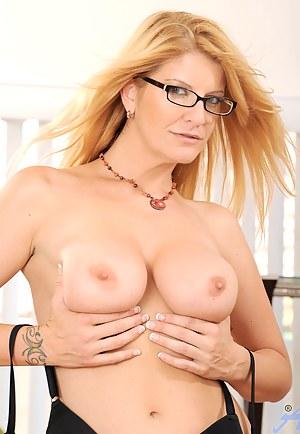 Moms nude in glasses please